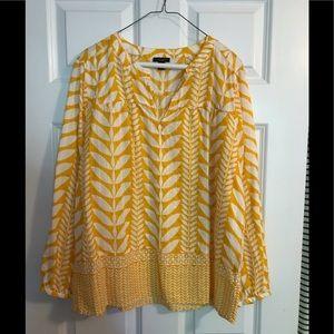 Ann Taylor long sleeve pattern tunic
